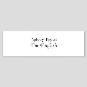 The English Bumper Sticker