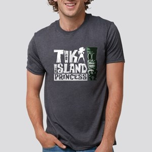 Tiki Island Princess Mens Tri-blend T-Shirt