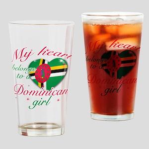Dominican Valentine's designs Drinking Glass