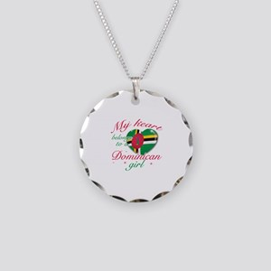 Dominican Valentine's designs Necklace Circle Char