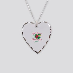 Dominican Valentine's designs Necklace Heart Charm