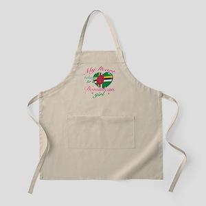 Dominican Valentine's designs Apron