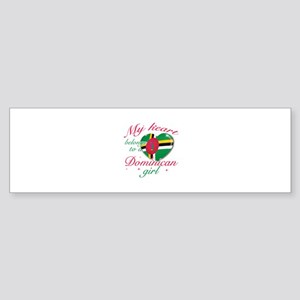 Dominican Valentine's designs Sticker (Bumper)
