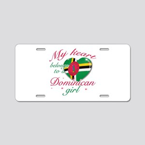 Dominican Valentine's designs Aluminum License Pla