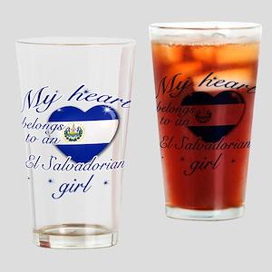 El Salvadorian Valentine's designs Drinking Glass