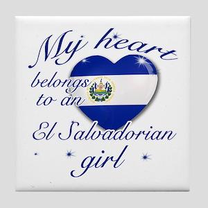 El Salvadorian Valentine's designs Tile Coaster