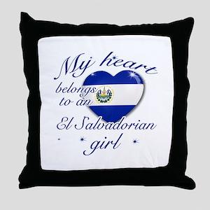 El Salvadorian Valentine's designs Throw Pillow