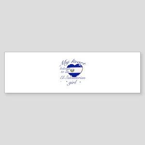 El Salvadorian Valentine's designs Sticker (Bumper