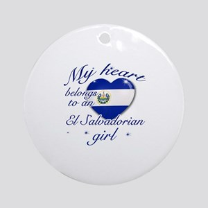 El Salvadorian Valentine's designs Ornament (Round