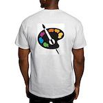 Art Shirt - 'Art Palette-Back' Ash Grey T-Shirt