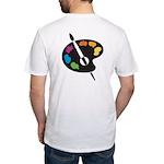 Art Shirt - 'Art Palette - Back' Fitted T-Shirt