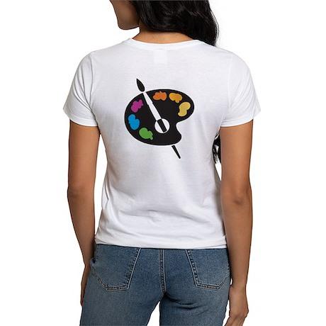 Art Shirt - 'Art Palette-Back' Women's T-Shirt