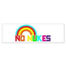 No Nukes, Anti Nuclear, Prote Sticker (Bumper)