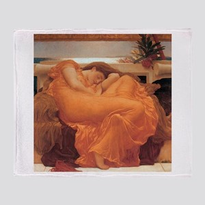 Frederic Leighton Flaming June Throw Blanket