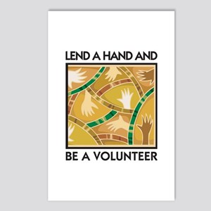 Lend a Hand and Be a Volunteer Postcards (Package