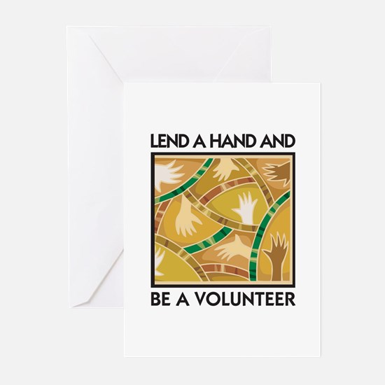 Lend a Hand and Be a Volunteer Greeting Cards (Pac