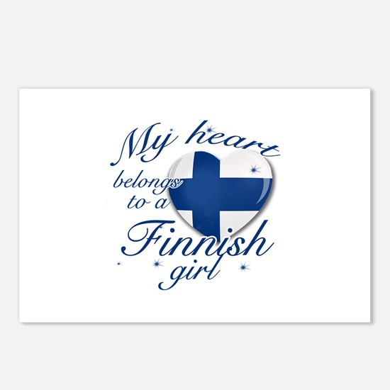 Finnish Valentine's designs Postcards (Package of
