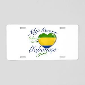 Gabonese Valentine's designs Aluminum License Plat