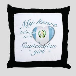 Guatemalan Valentine's designs Throw Pillow