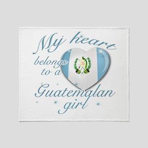 Guatemalan Valentine's designs Throw Blanket