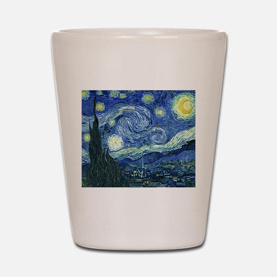 Van Gogh Starry Night Shot Glass