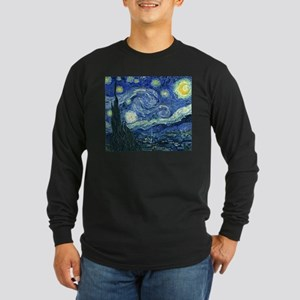 Van Gogh Starry Night Long Sleeve Dark T-Shirt