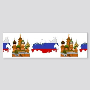 """Pixel Russia/Kremlin"" Bumper Sticker"