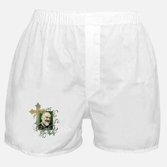 Padre Pio Boxer Shorts