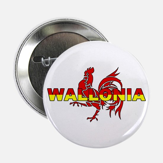 """Wallonia Rooster (Des. #1) 2.25"""" Button (10 pack)"""
