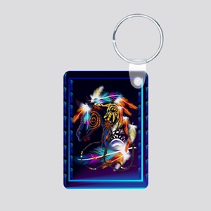 Bright Horse Aluminum Photo Keychain