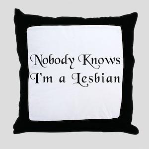 The Closet Lesbian's Throw Pillow
