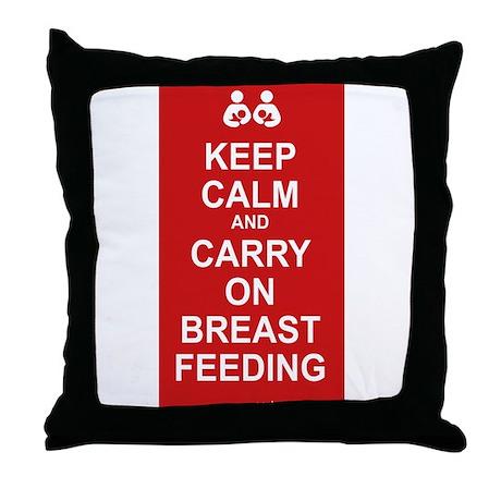 Keep Calm, Carry on Breastfee Throw Pillow