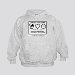 Care Instructions Kids Hoodie
