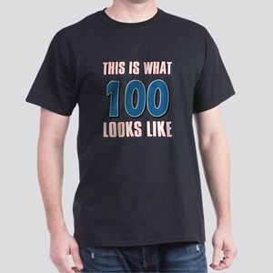 Cool 100 year old birthday designs Dark T-Shirt