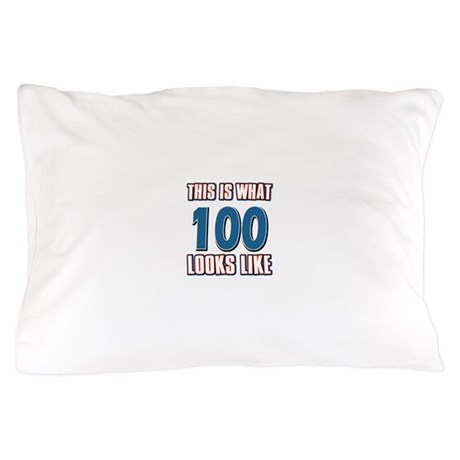 Cool 100 year old birthday designs Pillow Case