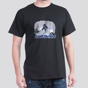 i love to ski Dark T-Shirt