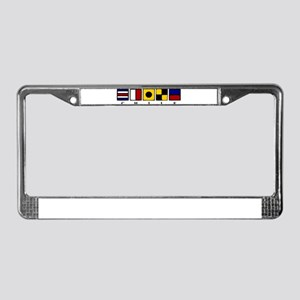 Nautical Chile License Plate Frame
