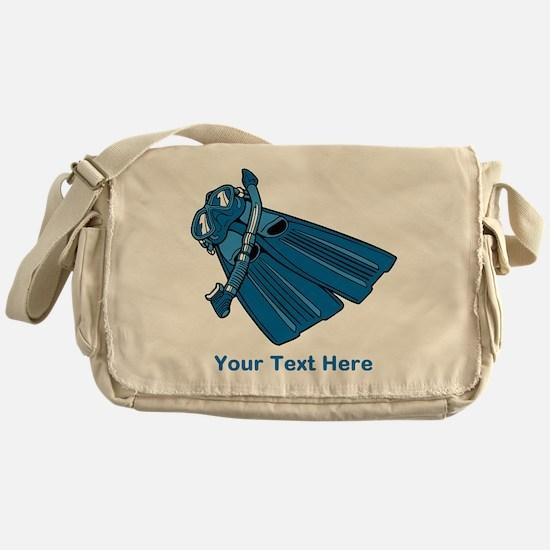 Diving Snorkel etc. And Text. Messenger Bag