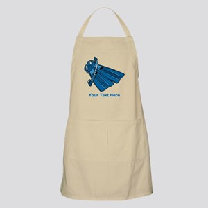 Diving Snorkel etc. And Text. Apron