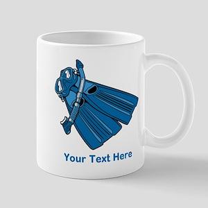 Diving Snorkel etc. And Text. Mug