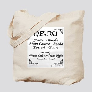 Menu Tote Bag