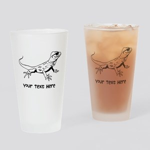 Lizard and Custom Text Drinking Glass