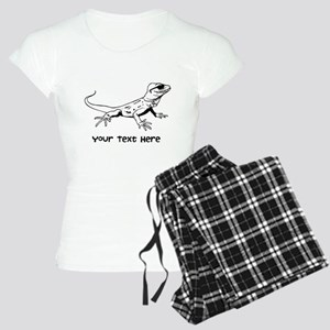 Lizard and Custom Text Women's Light Pajamas