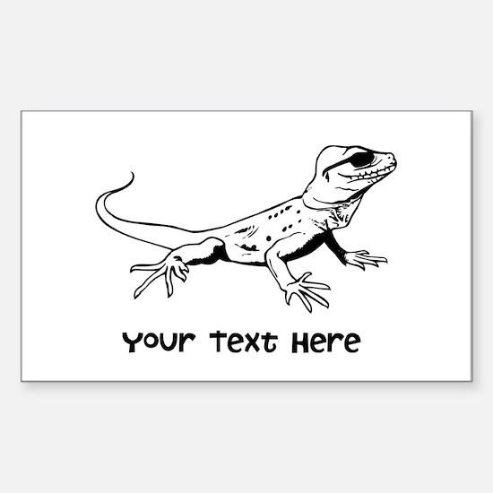 Lizard and Custom Text Sticker (Rectangle)