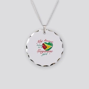 Guyanese Valentine's designs Necklace Circle Charm