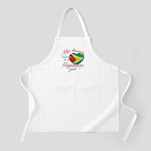 Guyanese Valentine's designs Apron