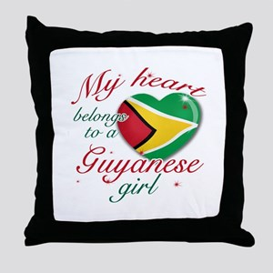 Guyanese Valentine's designs Throw Pillow