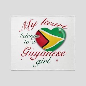 Guyanese Valentine's designs Throw Blanket