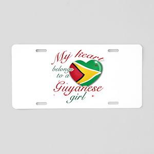 Guyanese Valentine's designs Aluminum License Plat