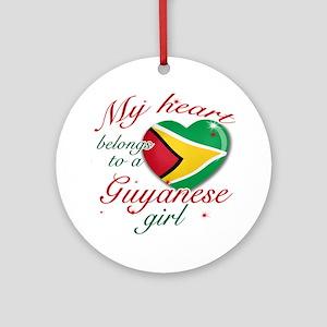Guyanese Valentine's designs Ornament (Round)